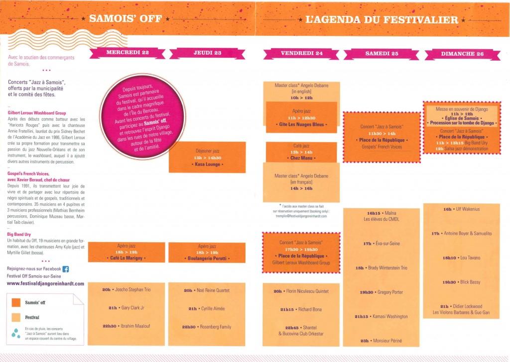 Programme Samois'Off  2